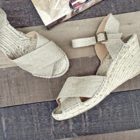 42459b8e997 SOLUDOS Crisscross Espadrille Wedge Sandals